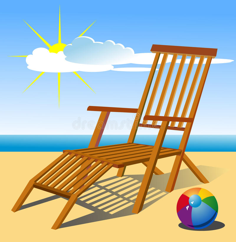 Beach chair stock vector. Illustration of adventure ...
