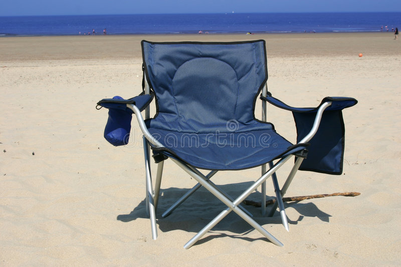 Beach chair royalty free stock image