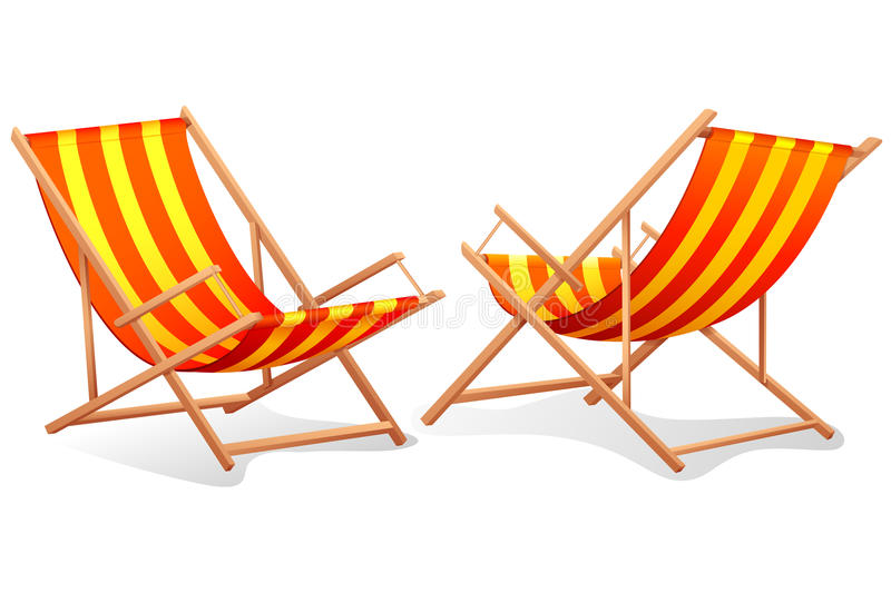 Download Beach Chair stock vector. Illustration of front, lounge - 23136611