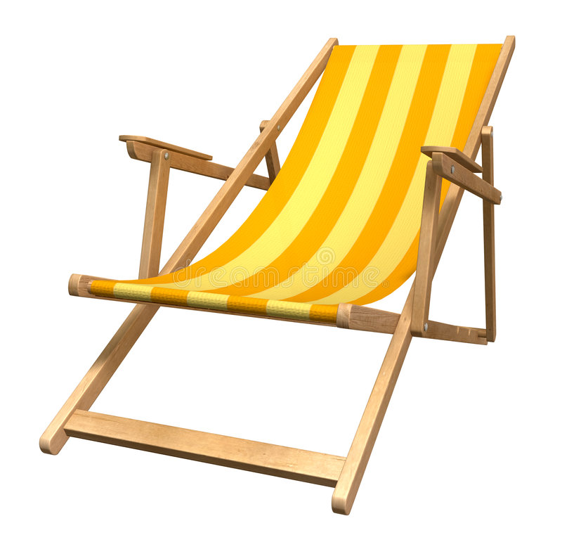 Beach chair. Qualitative picture of a beach armchair royalty free illustration