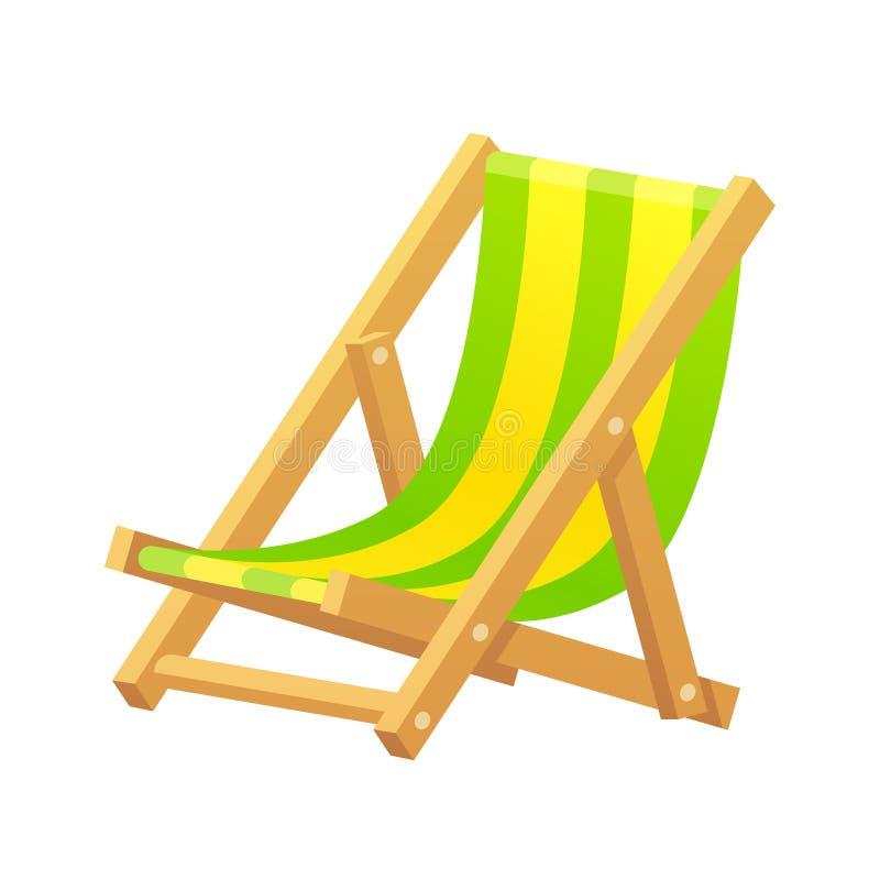 Beach chair illustration vector illustration