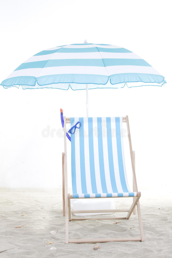 Free Beach Chair In The Sand Stock Images - 31354384