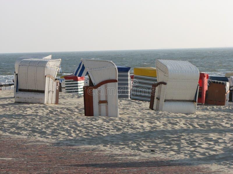 Beach, Chair, Sea, Vacation royalty free stock photos