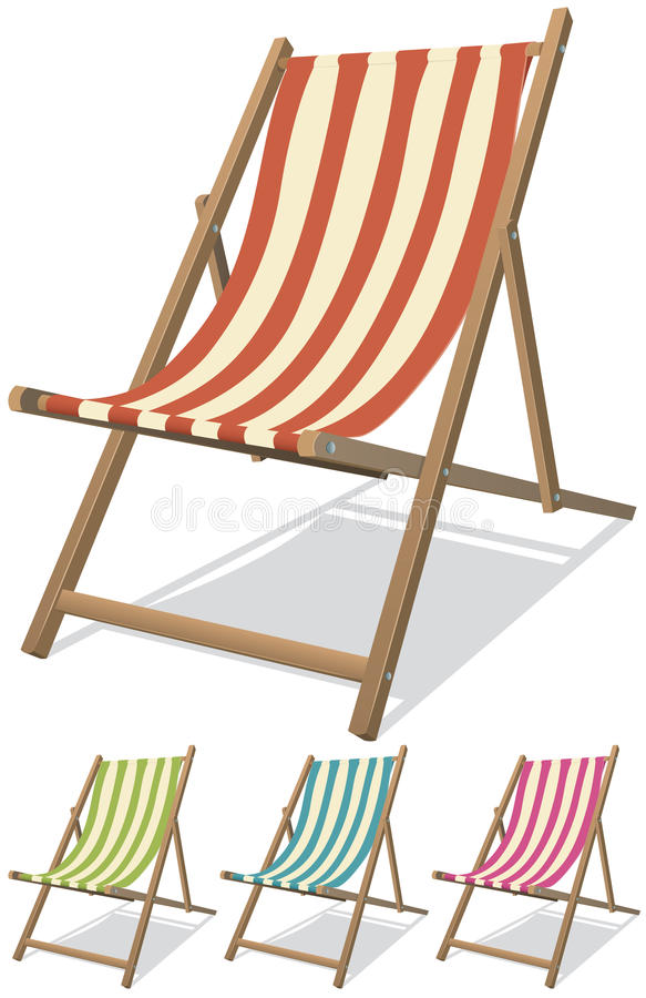 Beach Chair Set Royalty Free Stock Images