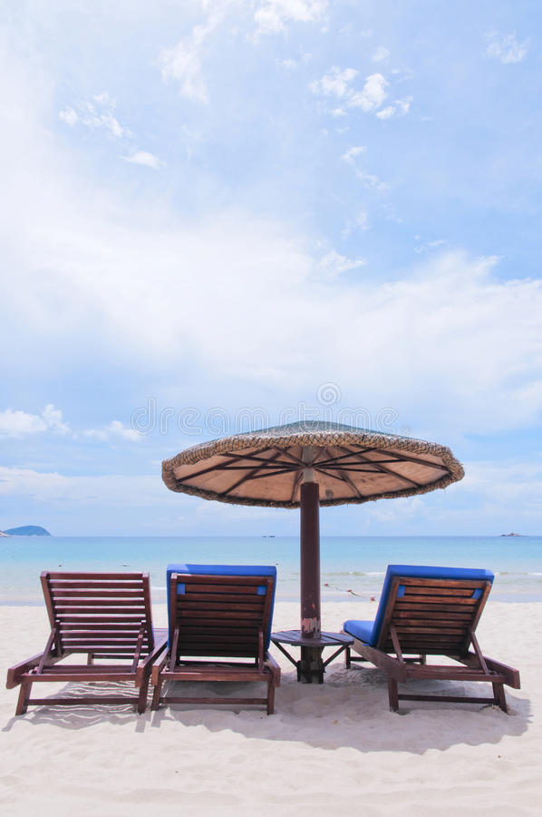Download Beach chair  in  the  sun stock photo. Image of sunshine - 26645902