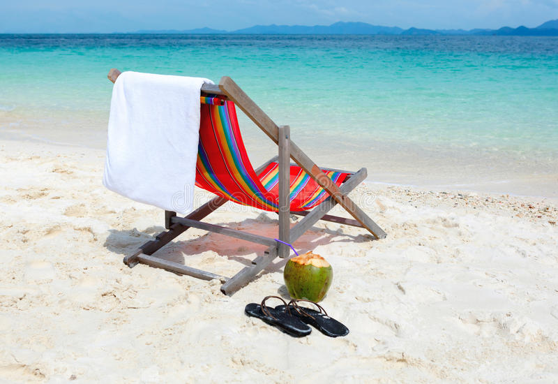 Download Beach Chair On Tropical Summer Beach Stock Photo - Image of getaway, nature: 28688110