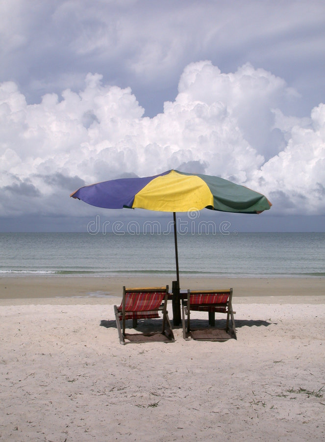 Beach chairs 1 royalty free stock photos