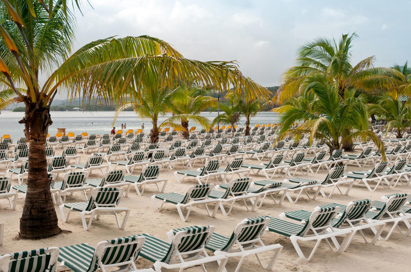 Download Beach Chairs stock image. Image of coast, coastline, holiday - 23019721