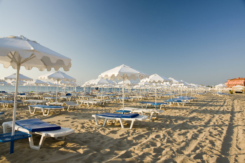 Download Beach chairs stock image. Image of blue, white, vacant - 3008693