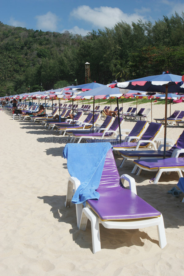 Download Beach chairs stock image. Image of outside, paradise, colorful - 4575005
