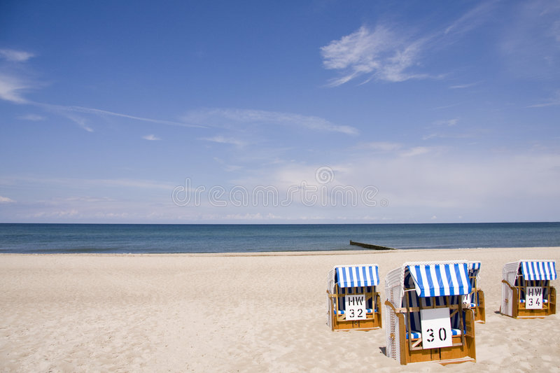 Download Beach Chairs On The Baltic Sea Beach Stock Image - Image of chair, germany: 7712261