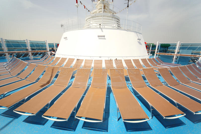Download Beach Chairs On Blue Ship Deck Summer Day Stock Image - Image of relax, ship: 15522183