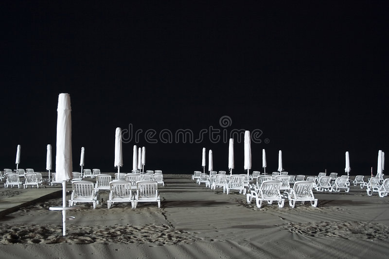 Download Beach chairs at night stock image. Image of night, unoccupied - 1702567