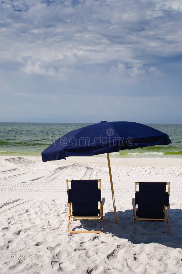 Download Beach Chairs and Umbrella stock photo. Image of chairs - 5439328