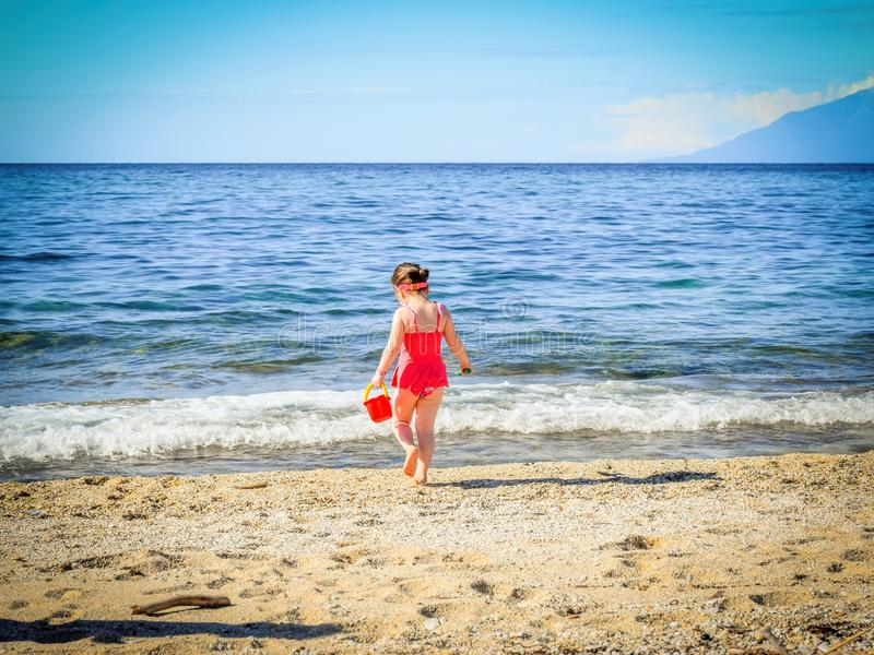Beach, Child, Cute royalty free stock images