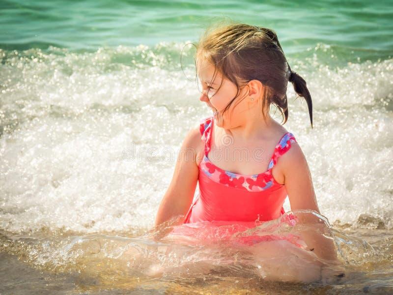 Beach, Child, Enjoyment stock photography