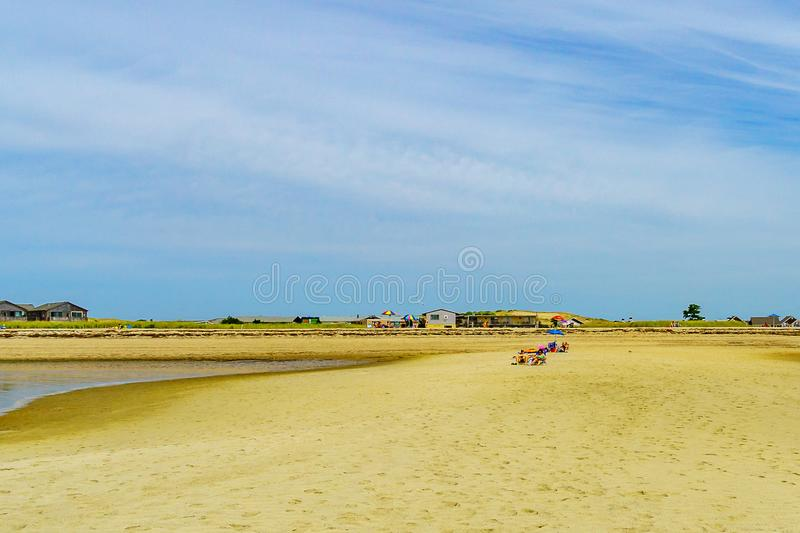 The beach on a clear summer day in Provincetown, Cape Cod, Massachusetts. USA stock images