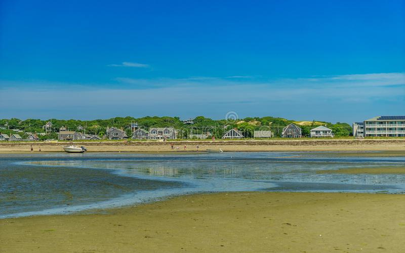 Beach on a clear summer day in Provincetown, Cape Cod, Massachusetts. USA royalty free stock photos