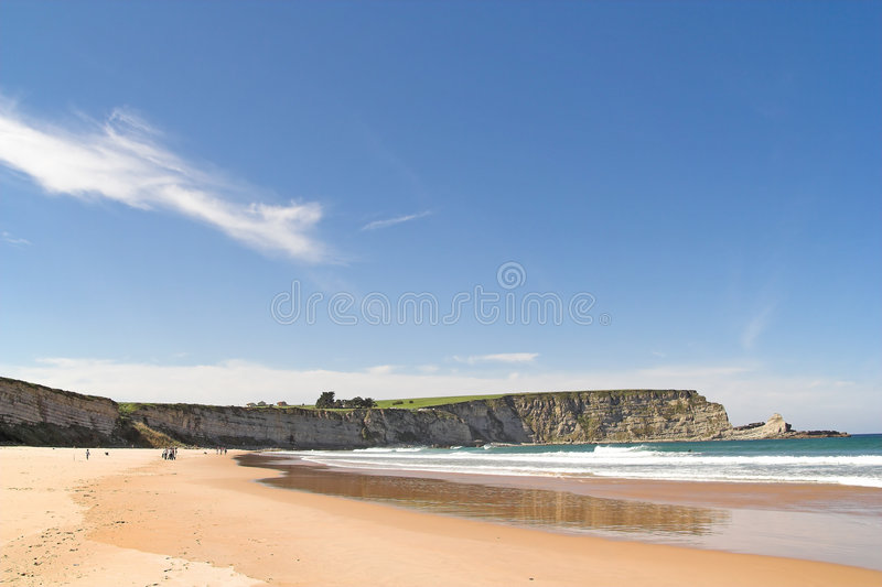 Beach and cliff stock photo