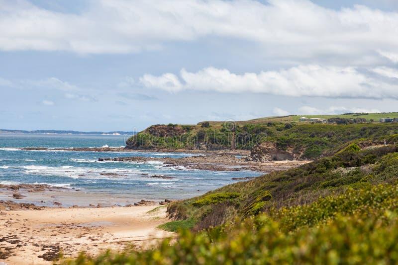 Beach cliffs at Kilcunda stock photos