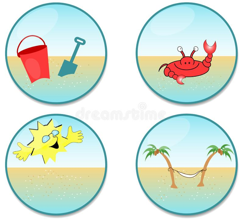 Beach Clip-art royalty free stock photos