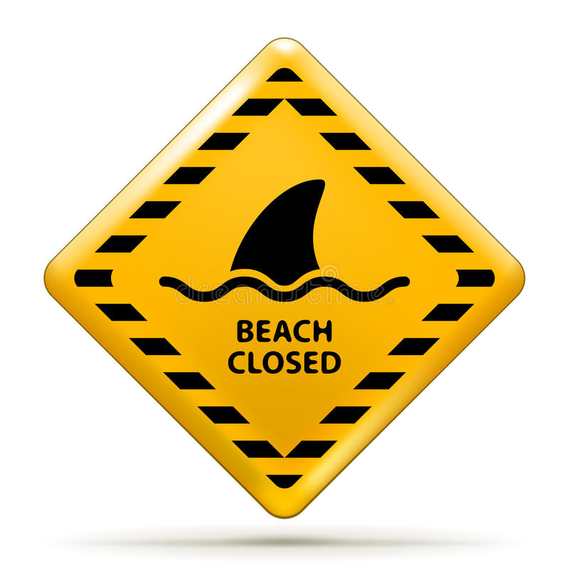 Free Beach Closed Sign Stock Images - 28765974