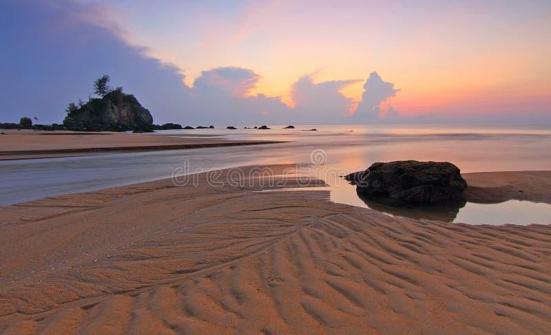 Beach, Clouds, Dawn stock image