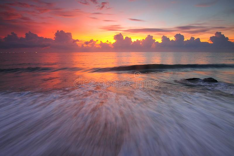 Beach, Clouds, Dawn royalty free stock image
