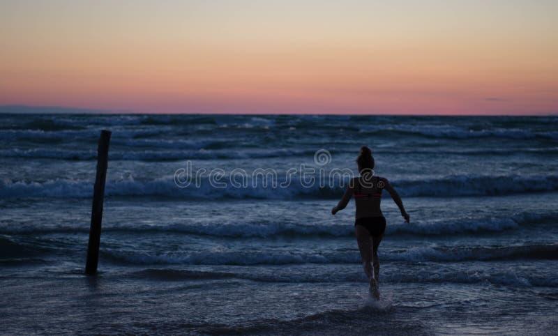 Beach, Clouds, Dawn, Evening, stock image