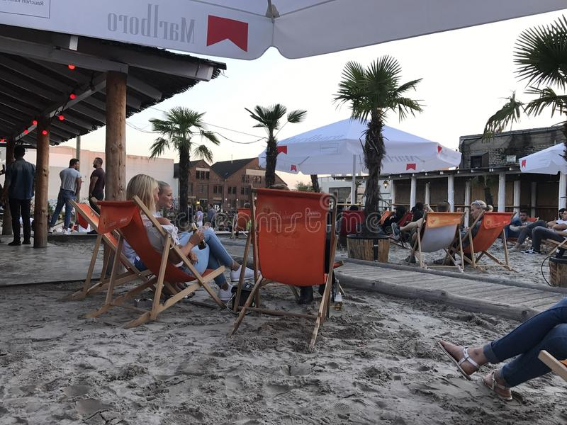 Beach Club Münster stock images