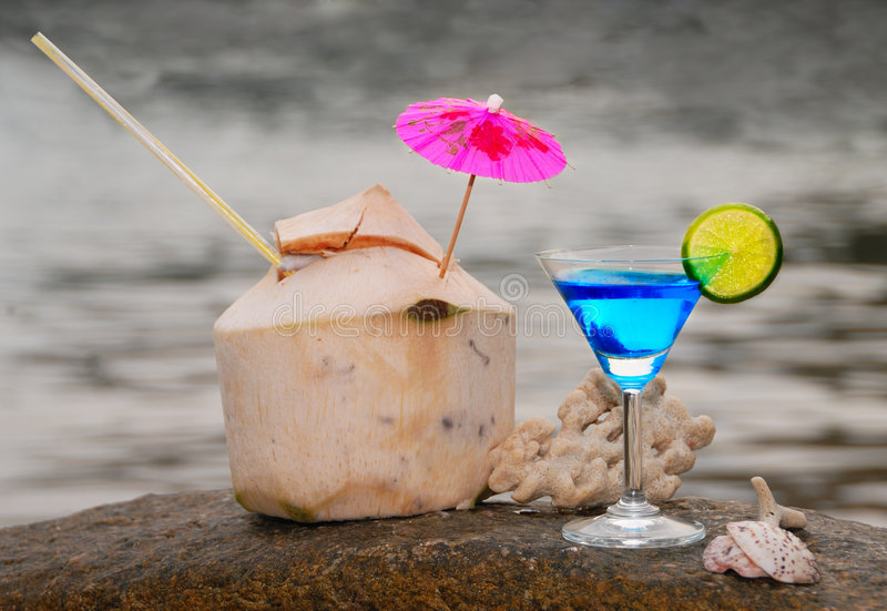 Beach Cocktails royalty free stock photo