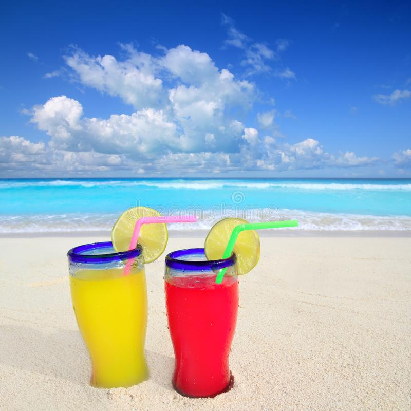 Download Beach Cocktails In Caribbean Tropical Sea Royalty Free Stock Photo - Image: 19464885