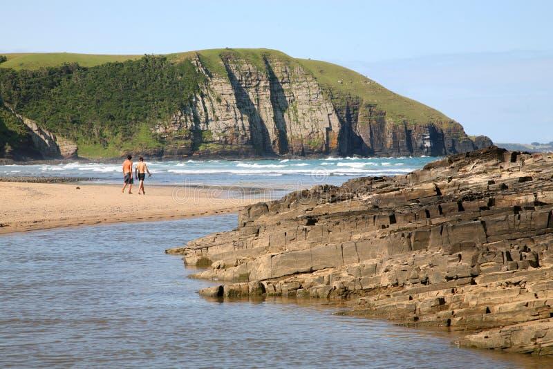 Beach of Coffee Bay stock photo