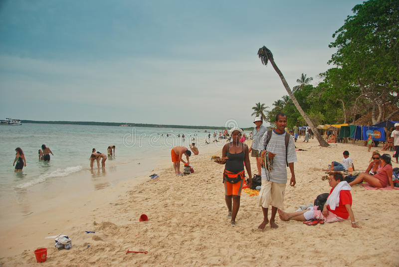 Beach in Colombia royalty free stock photography