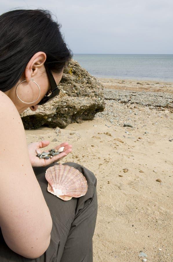 Beach combing stock photography