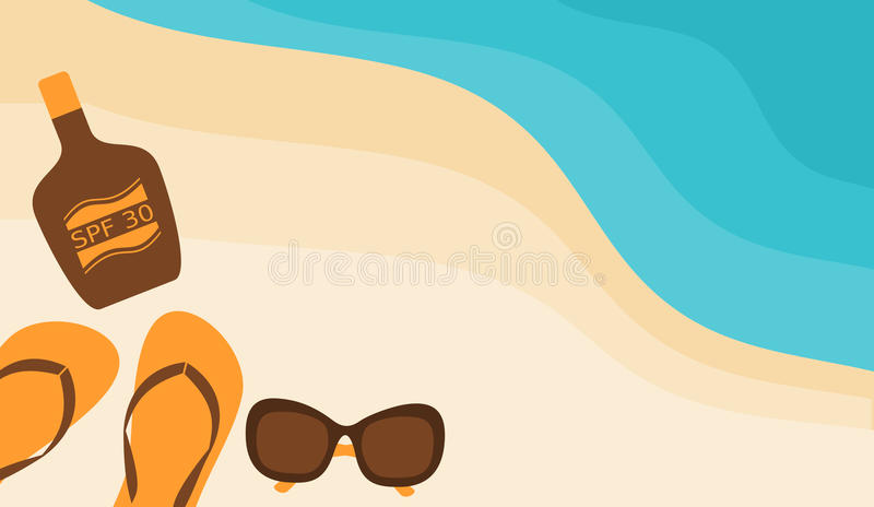 Beach Composition vector illustration