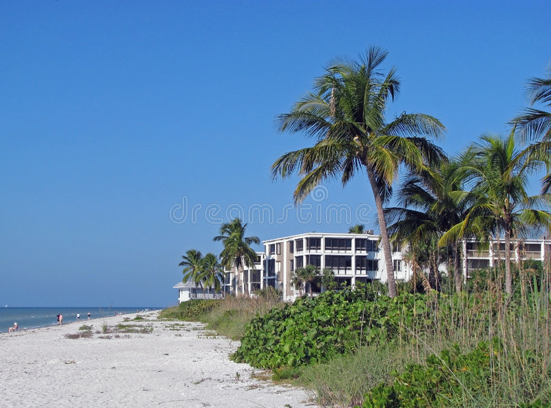 Beach condominiums royalty free stock images
