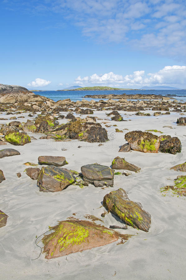 Beach in Connemara, Galway in Ireland royalty free stock images