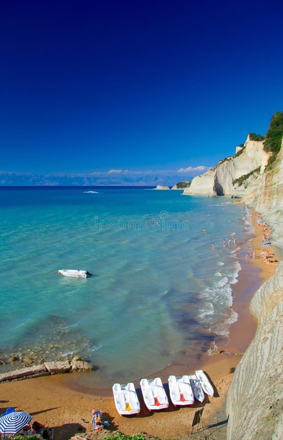 Beach on Corfu island royalty free stock photography