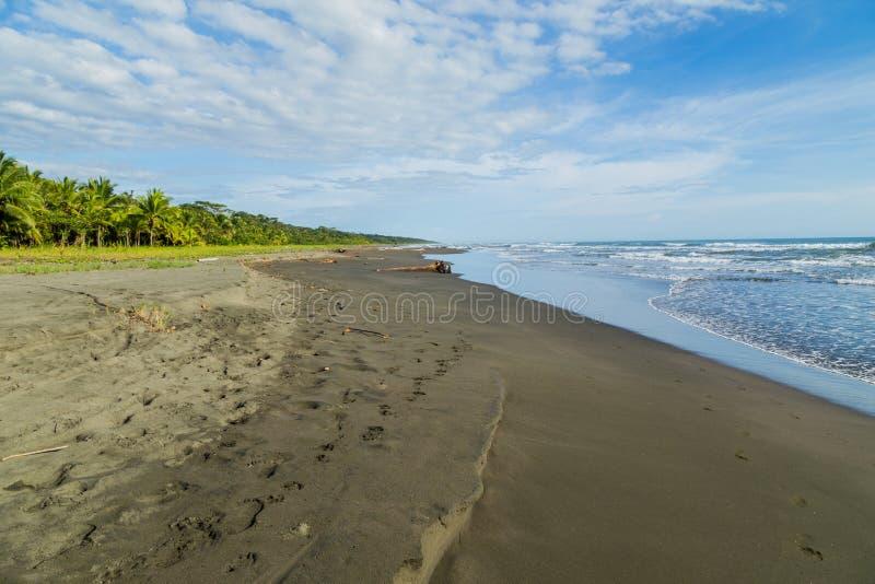 Beach in costa rica stock photography