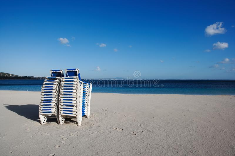 Beach couches royalty free stock image