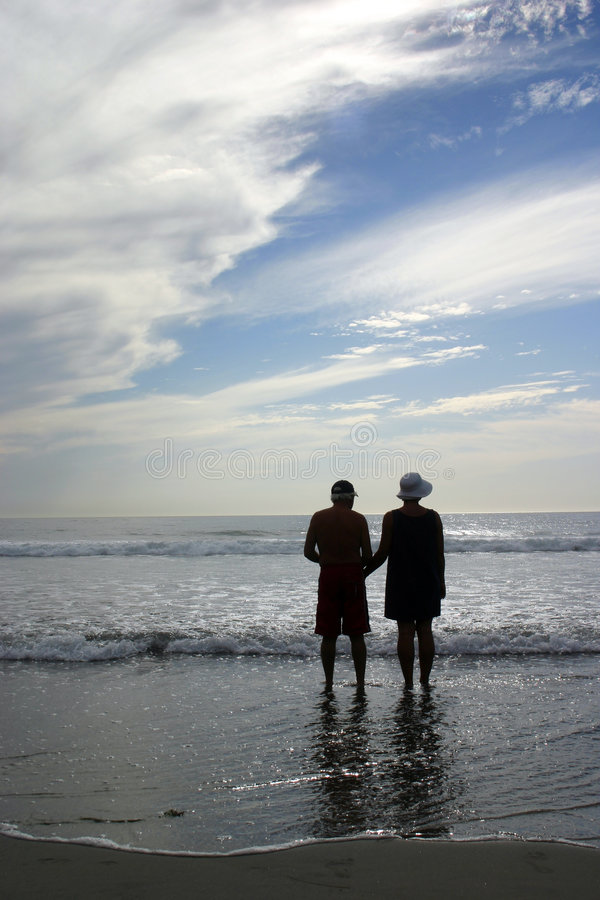 Beach Couple royalty free stock images