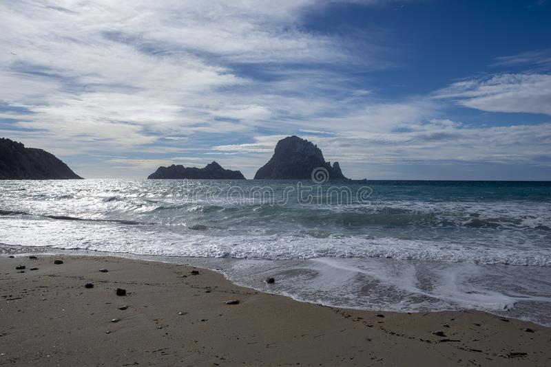 The beach of the cove de hort in ibiza royalty free stock images