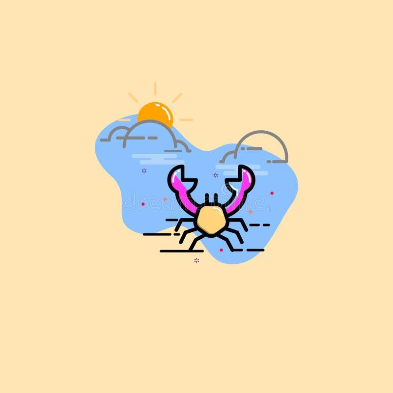 BEACH CRAB ICON royalty free illustration