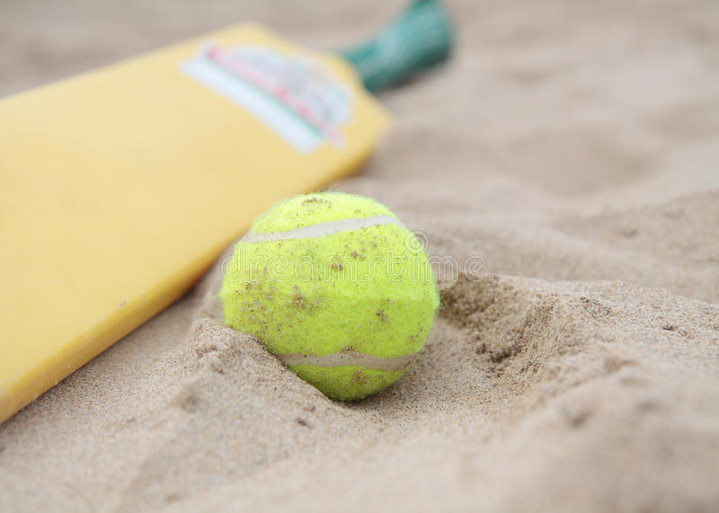 Beach cricket stock image