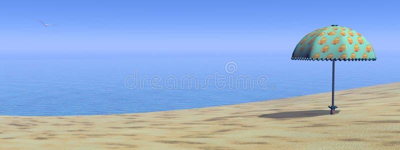 Beach - 3D render stock illustration