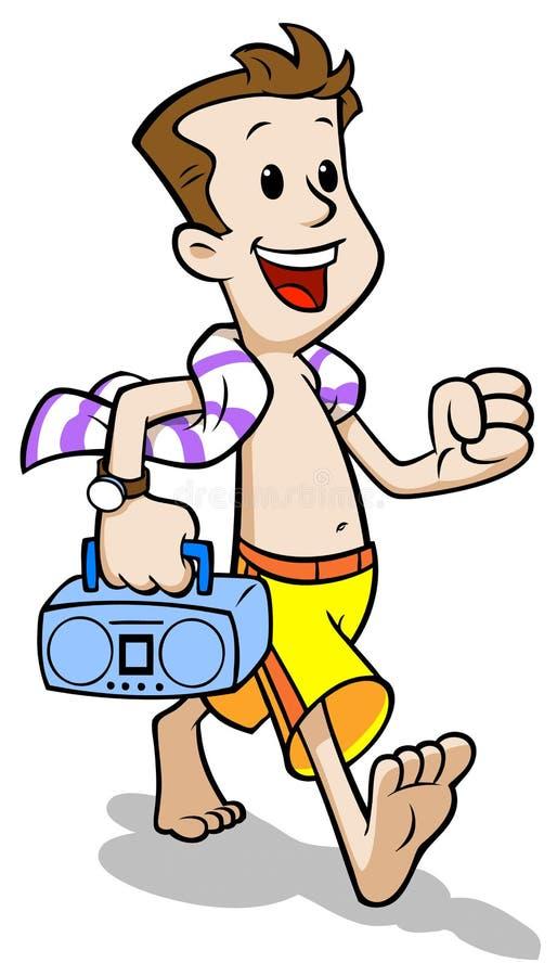Download Beach Dad stock vector. Image of summer, happy, refreshing - 10261903
