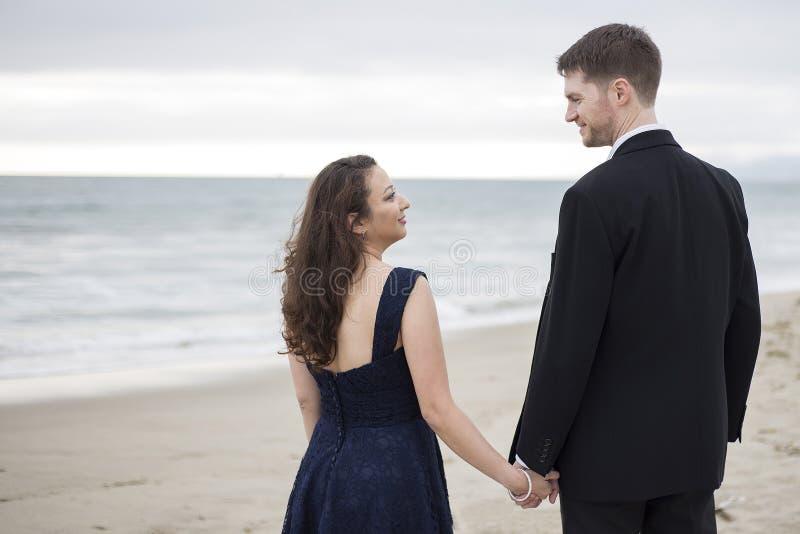 Beach Date stock image