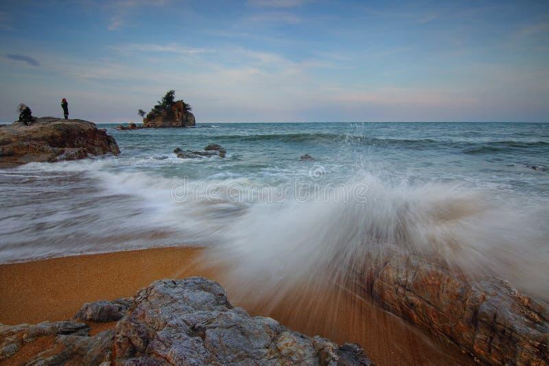 Beach, Dawn, Dusk stock images