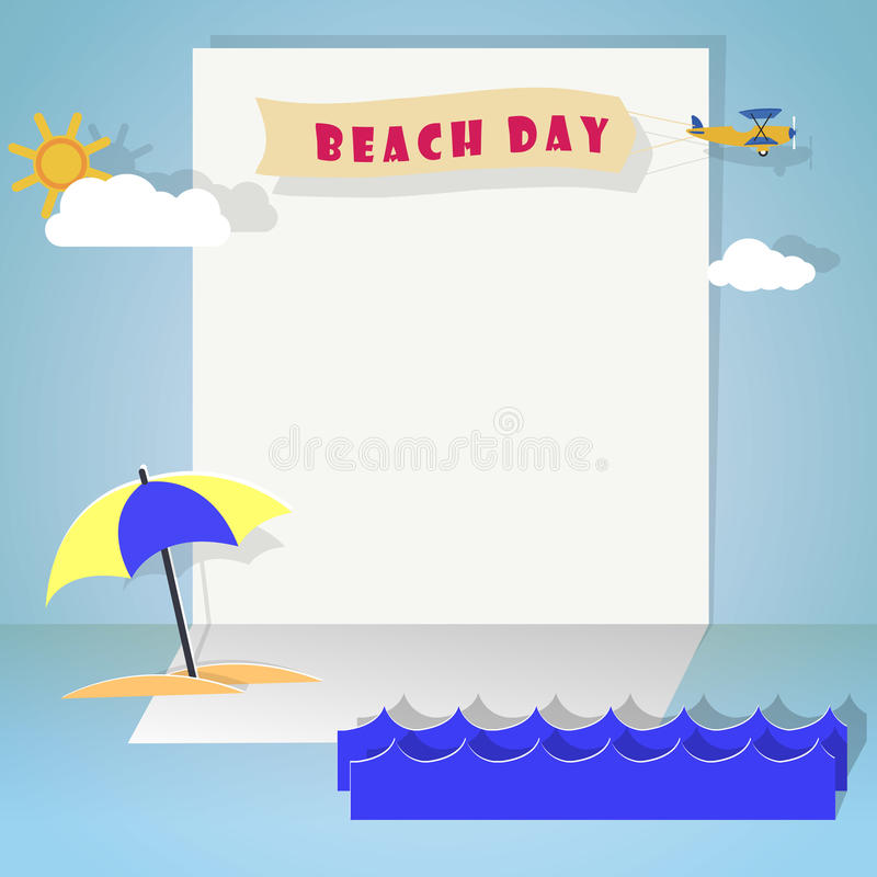 Beach day vector illustration